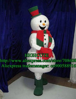 NEW CHRISTMAS SNOWMAN MASCOT COSTUME Adult Cartoon Character Mascotte Outfit Suit No.195 Free Ship