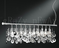 Free Shipping  Comtemporary Crystal Pendant Lights with 10 Lights Iron Ring Design