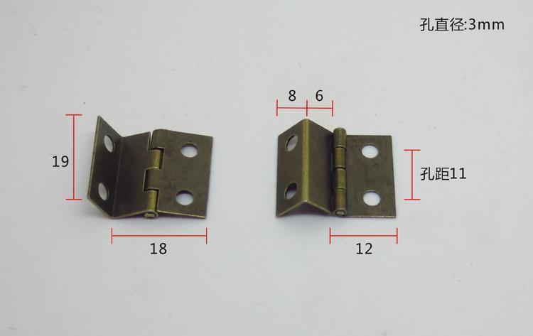 30Pcs Mini The three open hinge antique hinge Bronze hinge Arts and crafts hinge19X18X0.5 copper gold small hinge(China (Mainland))