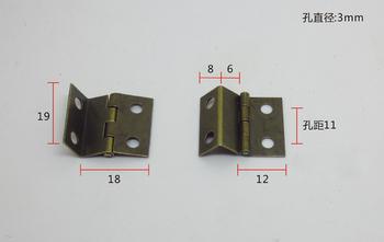 30Pcs Mini  The three open hinge antique hinge Bronze hinge Arts and crafts hinge19X18X0.5 copper gold small hinge