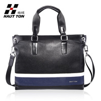 2014 Bolsas Handbags Medium(30-50cm) Zipper New Hot Brand Men Bag Handbag Shoulder 100% Leather Men's Briefcase free Shipping