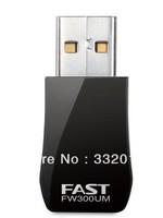 Free shipping Fast fw300um 300m mini wireless usb network card
