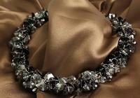 Austria Crystal necklace fashion vintage big fashion short design necklace female  chunky necklaces