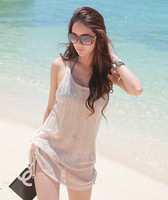 Bikini all-match outerwear mesh beach clothes beach wear holidaying dress beach dress
