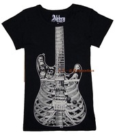 2013 spring and summer avril abbey skull skeleton guitar rock t-shirt punk women's short-sleeve T-shirt