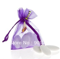 300 pcs Purple Organza Bags Size 7x9 cm (2.7x3.5inch) Wedding Favors Party Jewelry Bag Gift Wraps