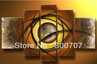 Free Shipping 5 Piece Hand Painted Oil Painting On Canvas Large Modern Abstract For Home Decoration Artwork Wall Picture *597
