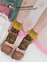 Beautiful vintage 5 socks female sock lace decoration sock vintage cotton socks
