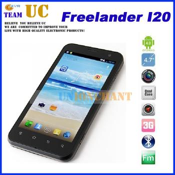 "4.7"" Freelander I20 Exnoys 4412 quad core phone 1G RAM 8G ROM IPS 1280x720 pixel capacitive 13.0MP cameras android 4.0"