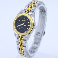 Free Shipping Brand New Fashion Luxury Black White Gold Surface Lady Women Jewelry Quartz Sports Dress Wristwatch NG12X