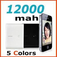 Brand New 12000mAh External Power Bank 5 Colors In Stock! Universal Mobile Power 12000mah 5pcs/lot!