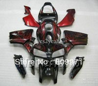 Red flames blk Injection Molded Fairing For CBR600RR 05 06 CBR600RR CBR 600RR 05 06 2005 2006 F5