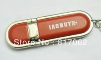 DHL FREE!100% Full Capacity VFD-4006 leather USB Flash Drive 1GB 2GB 4GB 8GB 16GB usb flash memory 2.0 free logo print