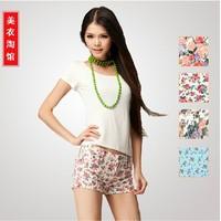 Hot sales American 2013 summer fashion shorts jeans shorts beach jeans female print beach pants,free shipping