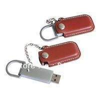 DHL FREE!100% Full Capacity VFD-4003 leather USB Flash Drive 1GB 2GB 4GB 8GB 16GB usb flash memory 2.0 free logo print