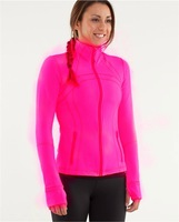 Free shipping 2013 lululemon hoodies Define Jacket scuba yoga women fashion coat outwear clothes rose red color 029