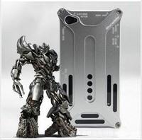 one piece retail Optimus Aluminum Metal case for iphone 4 4s 5 5s  Iron Man Luxury Titanium steel back covers cell phone