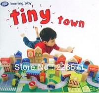 Urban scene building blocks; Life situations game; Wooden building blocks