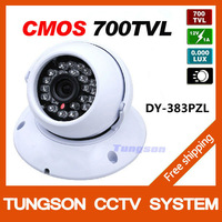"New Listing 1/4"" CMOS 700tvl 36leds IR 30M Indoor Night Vision White Dome Home Video Security CCTV Camera,Free shipping"