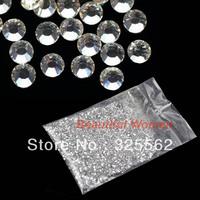 3mm Clear Round Nail Rhinestones Hard Case Nail Art Tips Acrylic UV Gel Nail Decoration Free Shipping 10893 3F