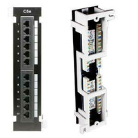 free shipping ,12 PORTS CAT5E NETWORK PATCH PANEL  WALL MOUNT & RACK MOUNT