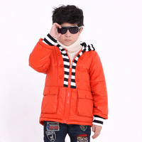 Scotch marco male child autumn and winter wadded jacket child fleece thickening winter wadded jacket children's clothing berber