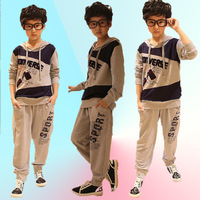 Child 2013 spring and autumn teenage sports child set long-sleeve pants twinset