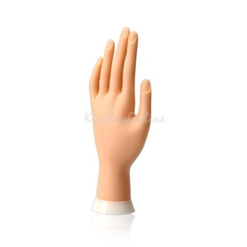 New Practice Hand Model Flexible Movable Soft Fake Hand for Nail Art Training K5