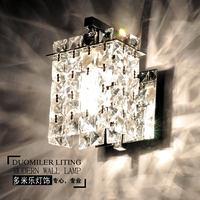 Modern brief stainless steel k9 crystal wall lamp bathroom cosmetic lamp bedroom lamp wall lamp