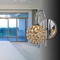 Brief k9 modern crystal wall lamp art lamp bed-lighting mirror light wall frha b8
