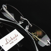 Richard Men commercial titanium rimless glasses myopia glasses eyeglasses frame 3527