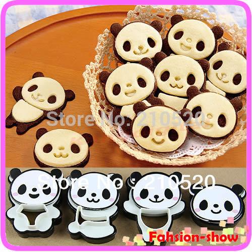 Hot Sale Little Panda Shape Sandwich Mold Bread Cake Mold Maker DIY Mold Cutter Craft(China (Mainland))