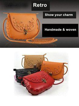 Women's Envelope Retro Messenger Bags Fashion Women Satchel Flowers Woven Weaving Rope Shoulder Bag 4 colors Free shipping