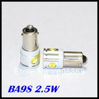 (2pcs/lot)car led Interior Light Bulbs reading light BA9S 2.5W High Power 4 leds car led LED light,High quality
