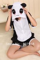 1 pcs New Adult Half sleeve  Animal design cartoon panda lovers Pajamas Sleeps cotton summer Pajamas Cosplay Costume