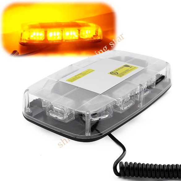 Dropshipping hot sale DC12V 30 LED 1W Magnets Emergency Strobe Lightbar K30-1W Amber Light Warning light S 12024(China (Mainland))