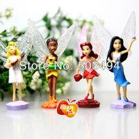 High Quality PVC (4pcs/set) Tinkerbell Fairy Adorable tinker bell