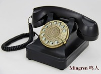 Rotary dial antique telephone rotating metal vintage old fashioned swivel plate