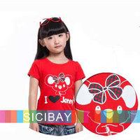 Girl Cartoon Tshirts Children Summer I LOVE JENNY Short Sleeve Tops,7pcs/lot,Free Shipping K0895