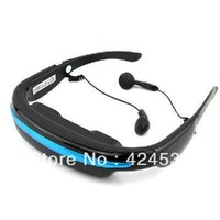 "Free Shipping Portable Eyewear 52"" Widescreen Multimedia Player Portable Video Glasses Virtual Theatre 4GB"