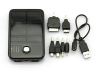 New 5000mAh Solar Panel Powered Back Up Battery USB Charger 2pcs for iPhone 5