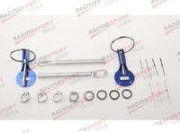 ALUMINUM RACING FLIP OVER STYLE SECURITY HOOD PINS/DECK PIN+BOLT+LOCK SET KIT ENGLK-002