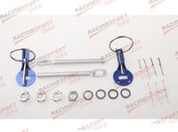 ALUMINUM RACING FLIP OVER STYLE SECURITY HOOD PINS/DECK PIN+BOLT+LOCK SET KIT ENGLK-002