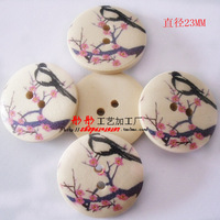 Free shipping wooden button Home decor bulk wooden button mixed for crafts Samuume Diy Needs Charm Girls like 100p/lot D3