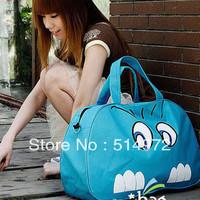 Best Selling!!new fashion ladies big eyes print travel bag women canvas bag travel duffle bag Free Shipping