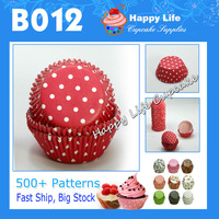 Wholesale 200 PCS  B012  Red white  Polka Dots for different parties! Paper Cupcake, cake decorating tools Free Shipping!!
