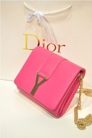 2013 Korean version of the candy-colored PU packet decorated shoulder bag Messenger bag mini bag woman bag