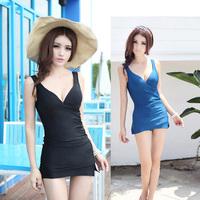 New arrival spa women's one-piece dress trigonometric swimwear gived swimwear steel