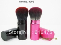 Tube pyrene single retractable cosmetic brush blush brush three-color wool