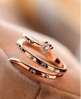 Free shipping 18K plating platinum simulation ring female jewelry gift